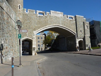 Entrance to old Quebec and city wall