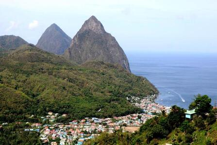 Twin Pitons, St Lucia